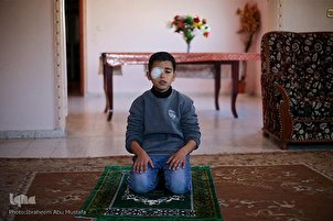 12-Year-Old Gaza Boy Who Lost Eye in Protests against Israel